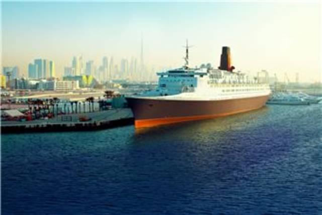 """صور.. دبي تشهد الافتتاح المبدئي لـ""""ذا كوين إليزابيث 2"""""""