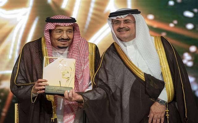 الملك سلمان بن عبد العزيز يكرم أرامكو