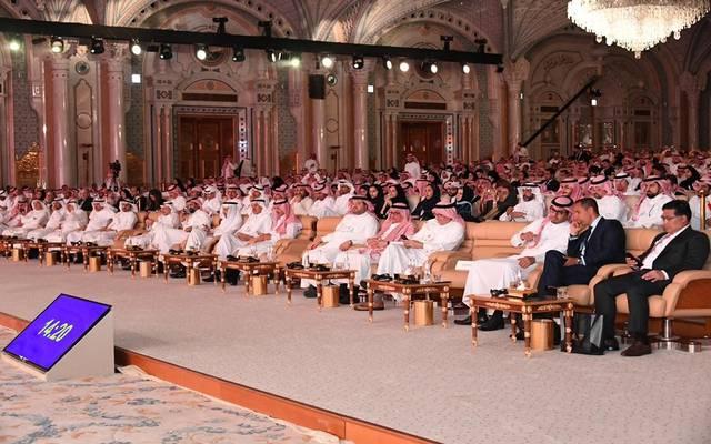 جانب من الجلسة الختامية لمؤتمر القطاع المالي بالسعودية