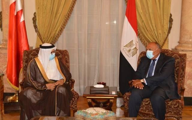 لقاء سابق بين وزيري خارجية مصر والبحرين