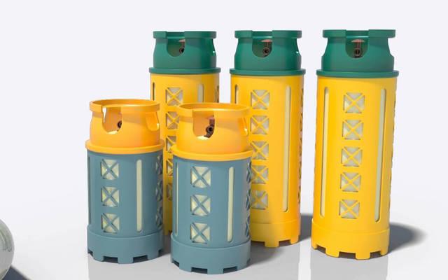 أسطوانات غاز بلاستيكية