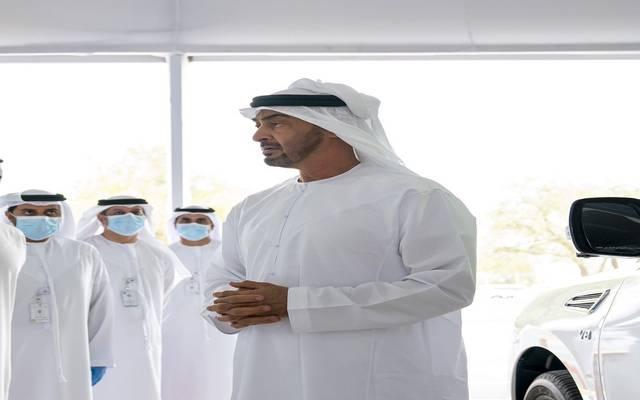 الشيخ محمد بن زايد خلال افتتاح المركز