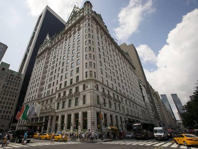 The Plaza Hotel in Manhattan