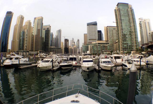 أحد الموانئ التابعة لإمارة دبي