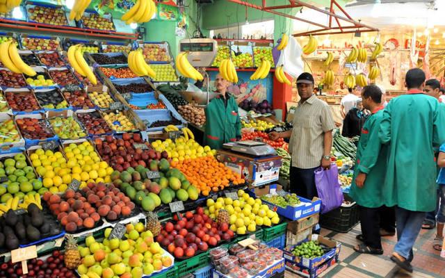 سوق للخضراوات والفواكه في المغرب