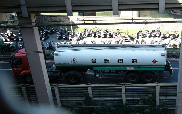 إحدى الشاحنات التابعة للشركة التايوانية
