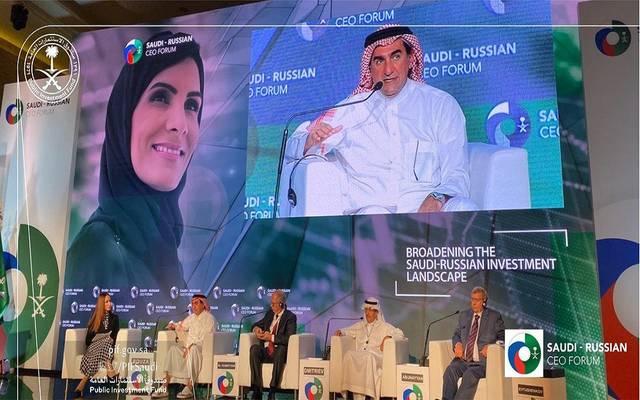 خلال مشاركة محافظ صندوق الاستثمارات العامة السعودي ياسر بن عثمان الرميان، في المنتدى السعودي الروسي