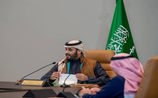ولي العهد السعودي الأمير محمد بن سلمان بن عبد العزيز خلال خلال إطلاق استراتيجية صندوق الاستثمارات العامة