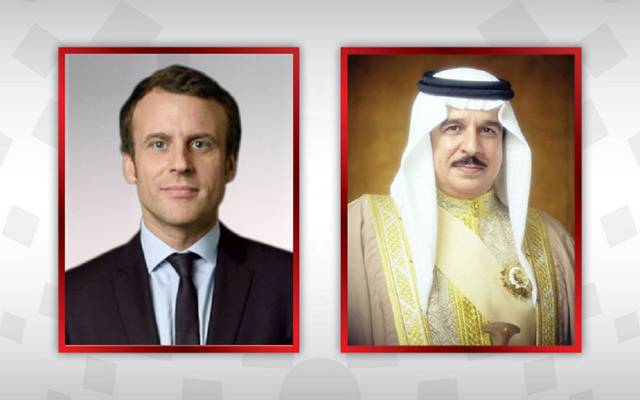 الملك حمد بن عيسى والرئيس الفرنسي