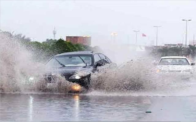 أثر الأمطار والسيول في الكويت