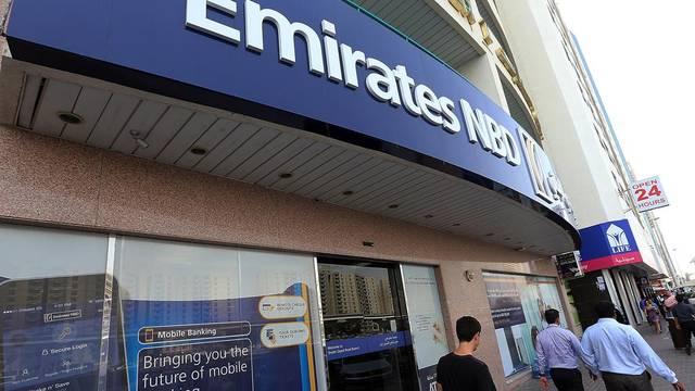أحد فروع بنك الإمارات دبي الوطني ، الصورة أرشيفية