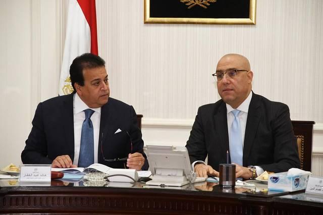 وزيرا الإسكان عاصم الجزار والتعليم العالي خالد عبد الغفار