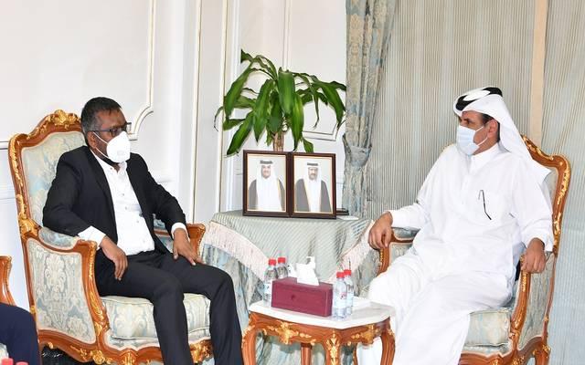 خلال استقبال النائب الأول لرئيس غرفة قطر لوزير التنمية الاقتصادية المالديفي