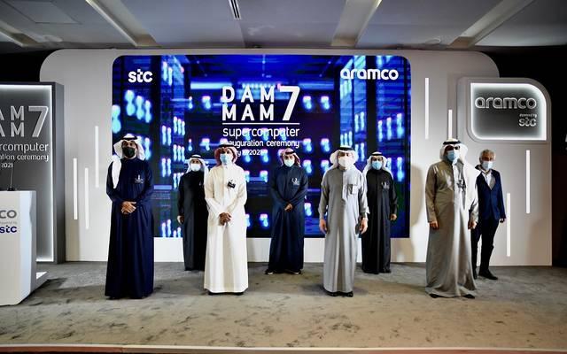 جانب من إطلاق أرامكو ومجموعة الاتصالات السعودية