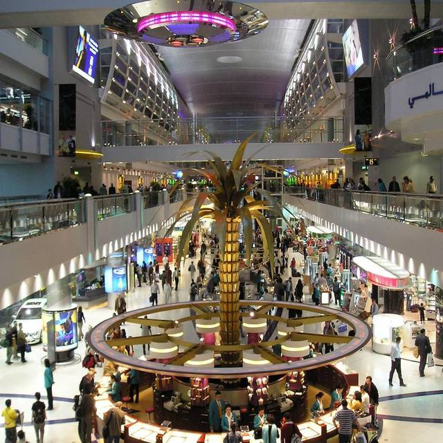 The total number of passengers at Dubai airport increased by about 21.5%