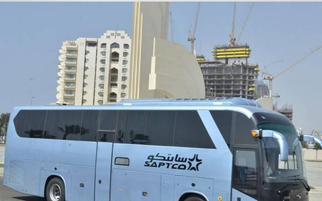 حافلة تابعة للشركة السعودية للنقل الجماعي- سابتكو