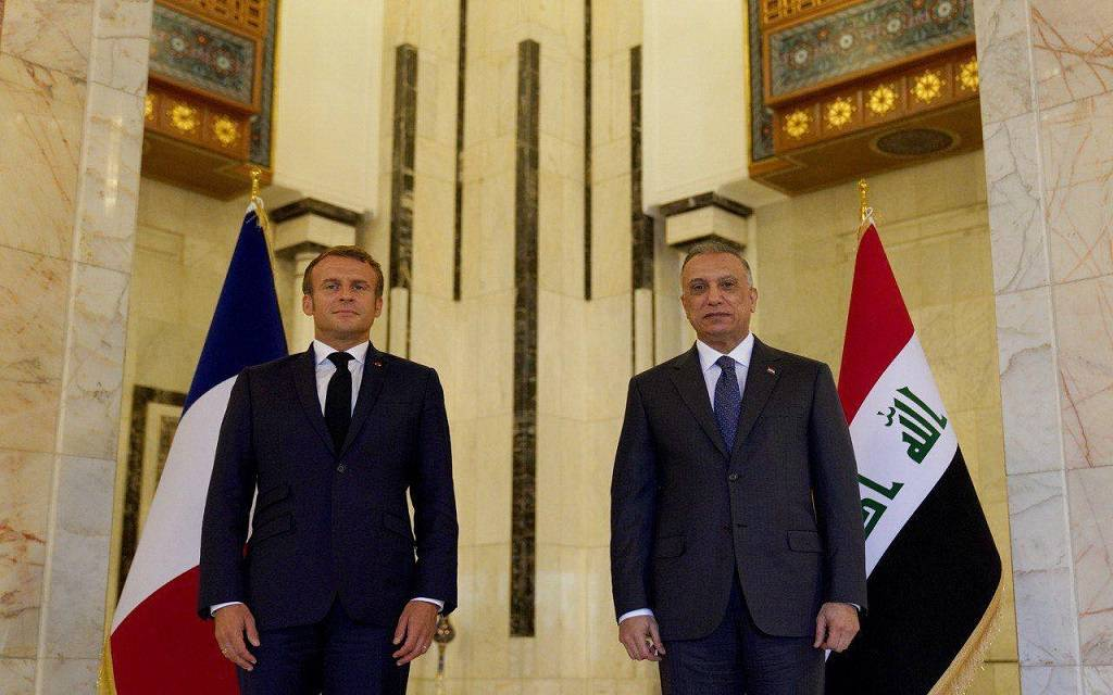 """""""Macron"""" discusses with """"Al-Kazemi"""" to expand French companies' investments in Iraq 1024"""