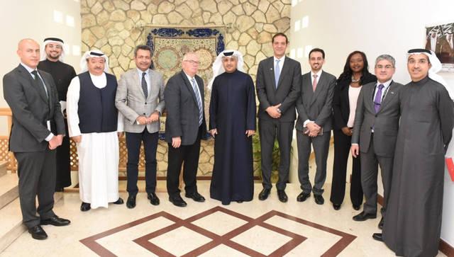 على هامش الاجتماع مع وزير المواصلات والاتصالات البحريني - كمال أحمد