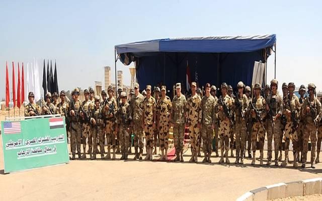 جانب من القوات المشاركة بالتدريب