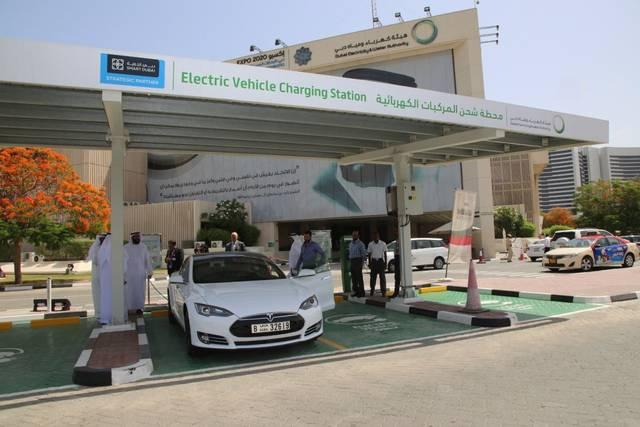 محطة شحن للسيارات الكهربائية في دبي
