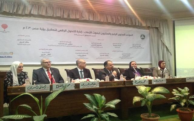 محمد معيط - وزير المالية خلال المؤتمر