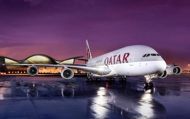 إحدى الطائرات التابعة لمجموعة الخطوط الجوية القطرية