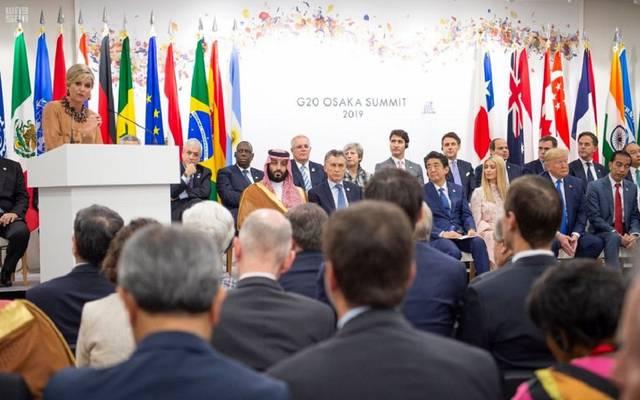 """ولي عهد السعودية يشارك في جلسة """"تمكين المرأة اقتصادياً""""..بقمة العشرين"""