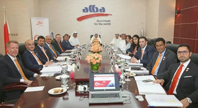 اجتماع مجلس الإدارة في مقر شركة ألمنيوم البحرين
