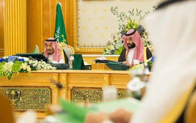الملك سلمان وولي العهد الأمير محمد بن سلمان خلال اجتماع مجلس الوزراء