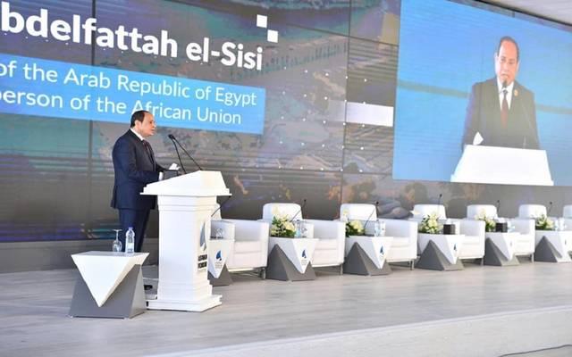 السيسي خلال افتتاح أعمال منتدى أسوان للسلام والتنمية المستدامة أمس الأربعاء