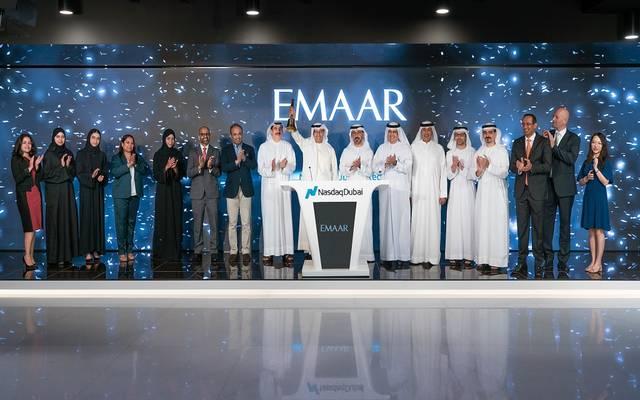 جانب من احتفال بورصة ناسداك دبي بإدراج صكوك شركة إعمار العقارية