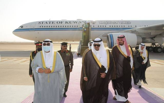 خلال وصول ولي عهد دولة الكويت الشيخ مشعل الأحمد الجابر الصباح إلى السعودية