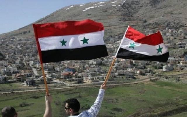 مواطنون سوريون على هضبة الجولان