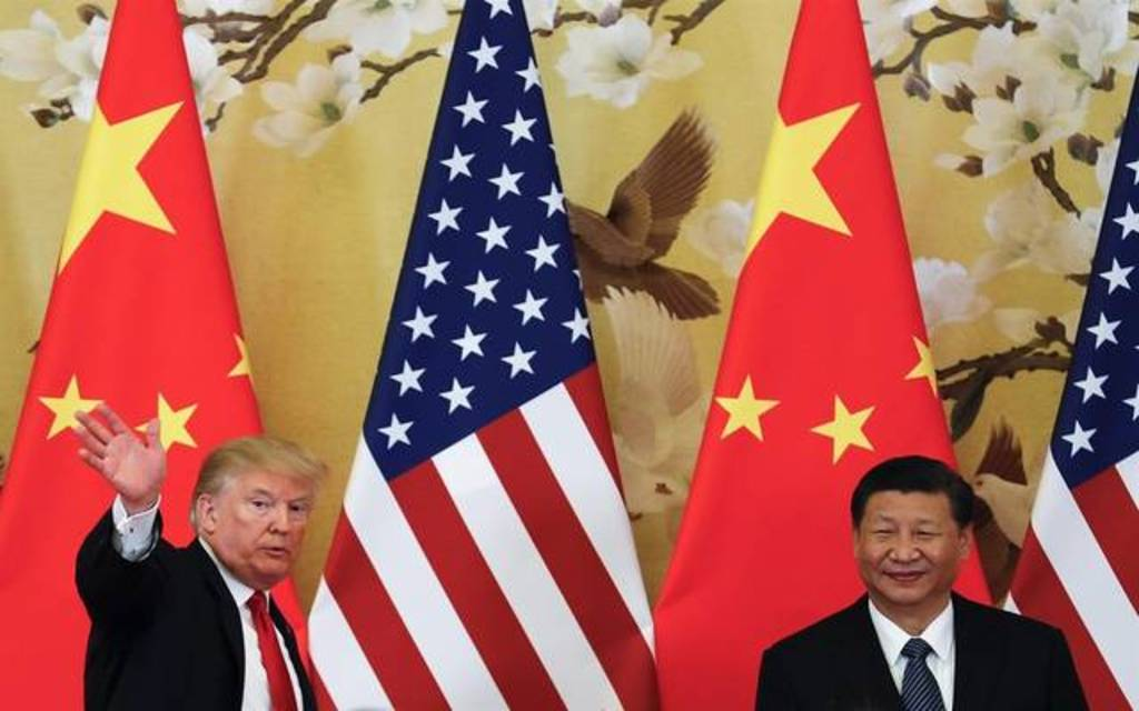 Trump again blames China for trade 1024