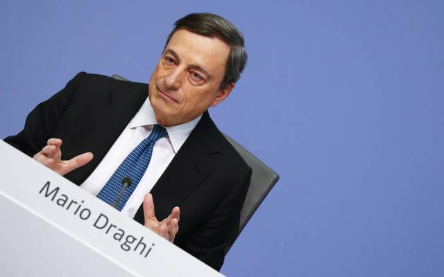 """دراجي:""""التوقعات على المدى المتوسط لاتزال تعاني من حالة عدم اليقين نتيجة """"التقلبات الأخيرة في سعر صرف اليورو"""""""