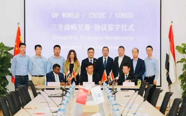 موانئ دبي السخنة تستقبل واردات مواد البناء الصينية للعاصمة الإدارية
