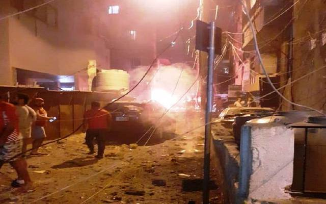 "انفجار خزان ""مازوت"" في بيروت.. وسقوط قتيلين وجرحى"