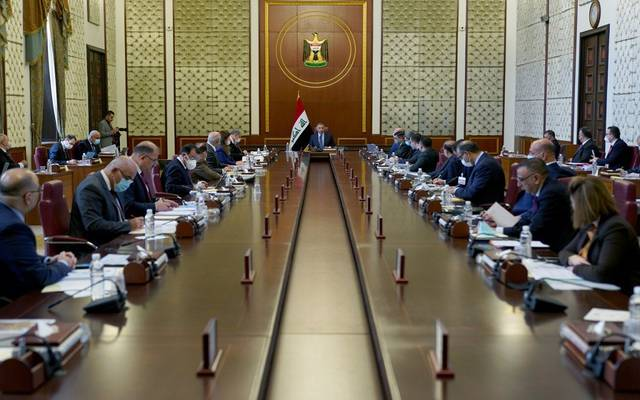 جانب من جلسة مجلس الوزراء العراقي برئاسة الكاضمي