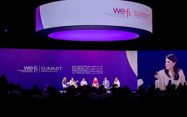 """خلال مشاركة رانيا المشاط، في جلسة عن """"تمكين رائدات الأعمال"""""""