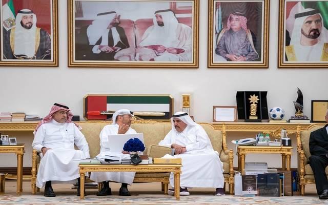 جانب من لقاء رئيس الهيئة مع الشيخ حمدان بن راشد