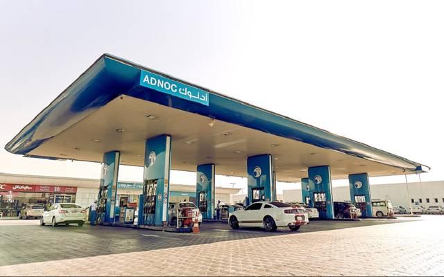 محطة وقود تابعة لشركة أدنوك الدولية للتوزيع (بترول أبوظبي الوطنية للتوزيع)