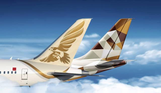 طائرات مملوكة للاتحاد للطيران، وطيران الخليج، الصورة من المصدر
