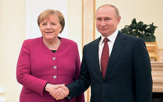 الرئيس الروسي والمستشارة الألمانية ـ ارشيفية