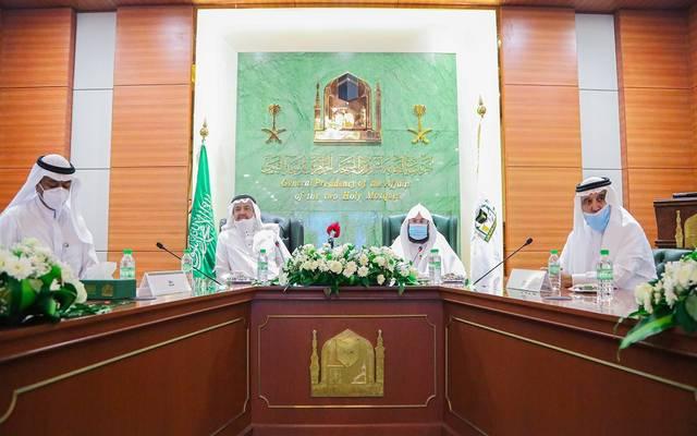 الرئاسة العامة ووزارة الحج وعدد من الجهات الأمنية تناقش المرحلة الأولى لأداء العمرة