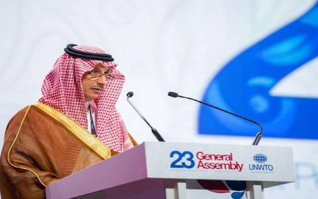 رئيس الهيئة العامة للسياحة والتراث الوطني أحمد الخطيب خلال اجتماع منظمة السياحة العالمية