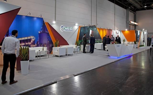 """جناح """"قطالوم"""" التي شاركت به في معرض التجارة العالمية للألمنيوم في ألمانيا هذا العام"""