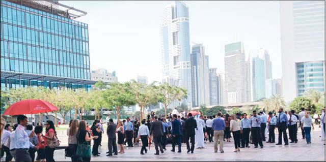 أحد المعالم السياحيةبإمارة دبي، الصورة أرشيفية