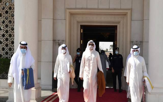 خلال مغادرة الوفد الكويتي
