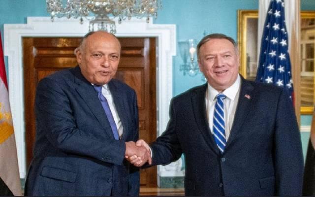وزيرا خارجية مصر والولايات المتحدة الأميريكية في لقاء بواشنطن