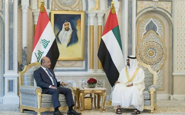 الشيخ محمد بن زايد والرئيس العراقي - صورة أرشيفية